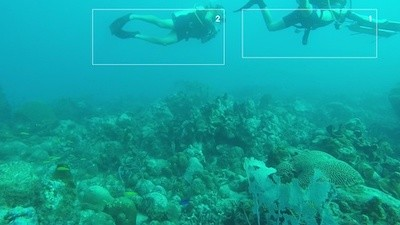 """Divers are identified as """"1"""" and """"2."""""""
