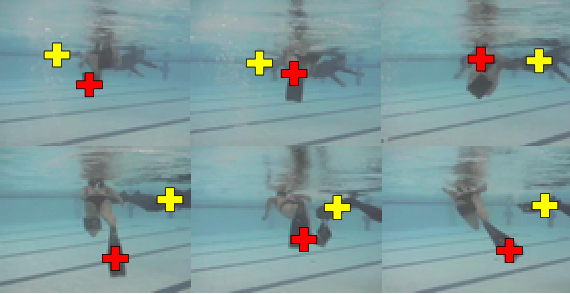 Two divers stacked pool